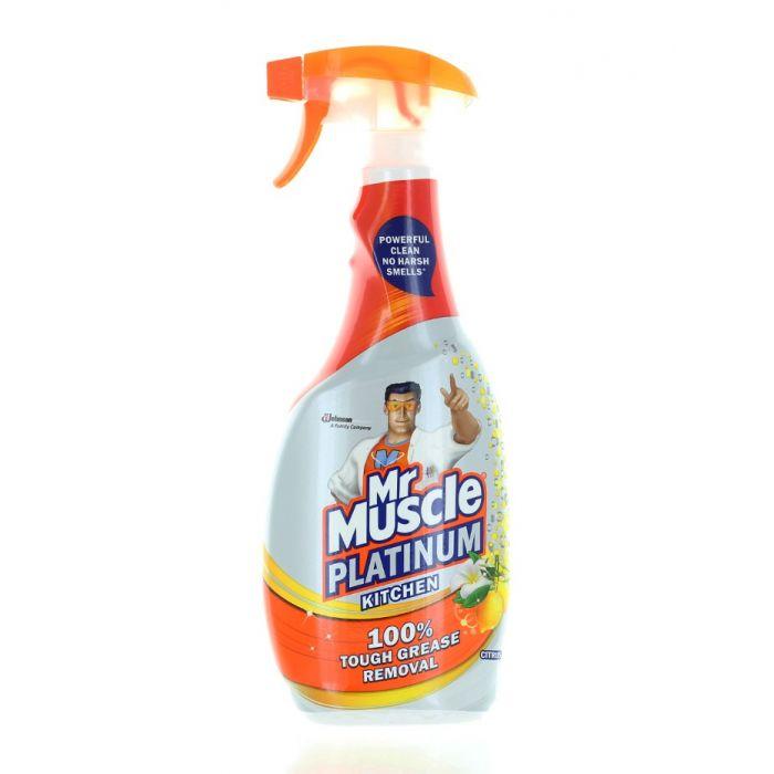 Mr. Muscle Solutie curatat suprafete bucatarie cu pompa 750 ml Platinum Citrus