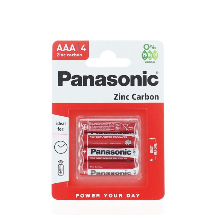 Panasonic Baterii R3 4 buc Zinc Carbon