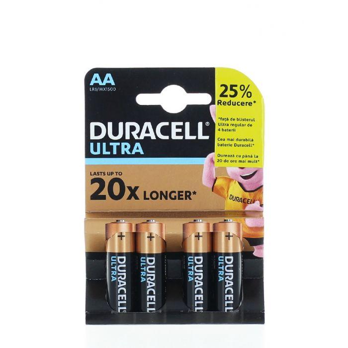 Duracell Baterii R6 4 buc Ultra Longest Lasting Alkaline