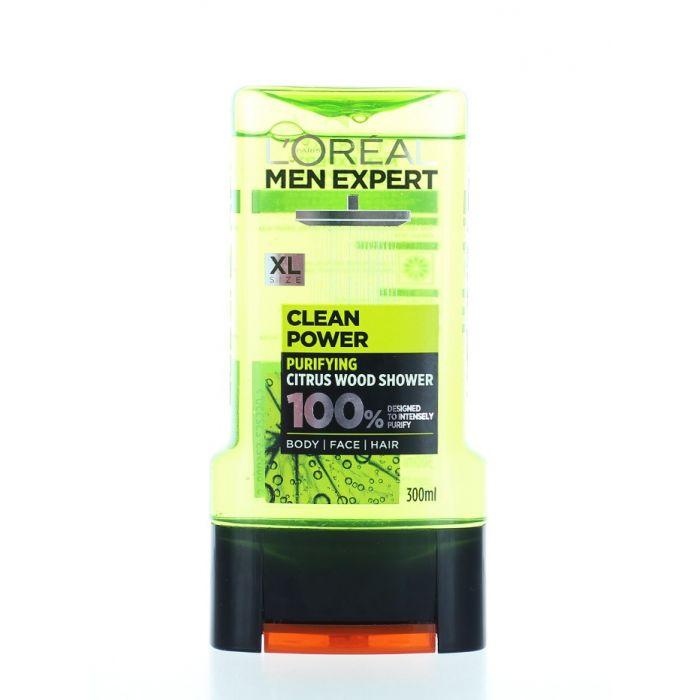 L'oreal Men Expert Gel de dus barbati 300 ml Clean Power