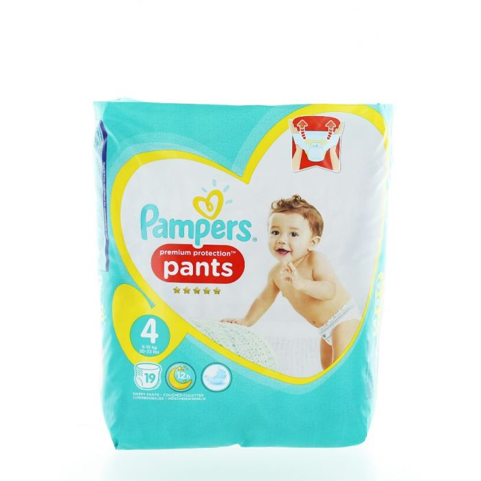 Pampers scutece chilotel nr.4 9-15 kg 19 buc Premium Protection