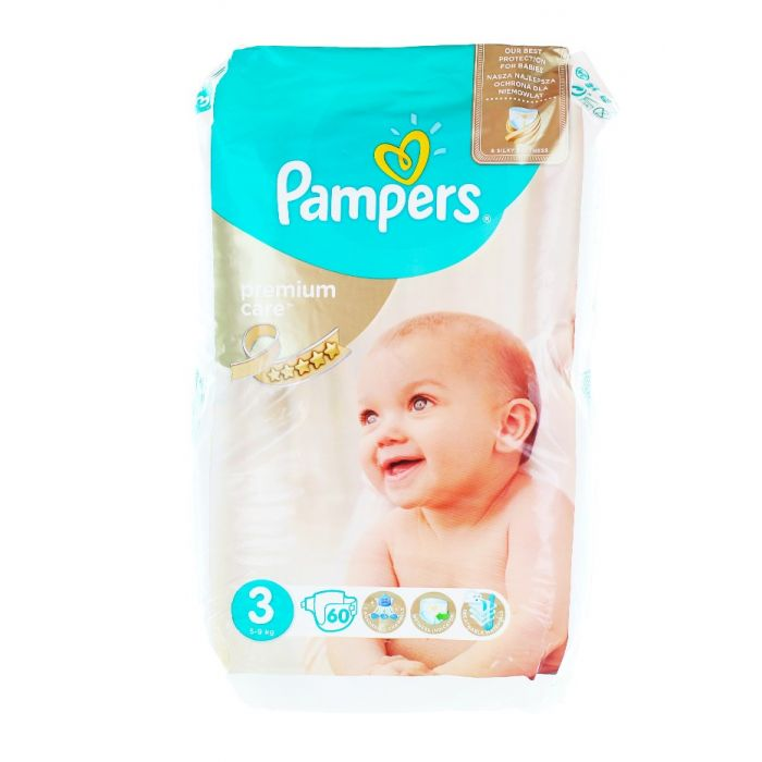 Pampers scutece nr. 3 5-9 kg 60 buc Premium Care