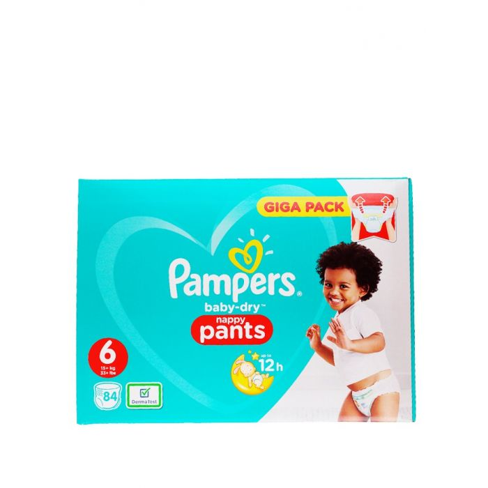 Pampers scutece chilotel nr. 6 15+ kg 84 buc Baby-dry (box)