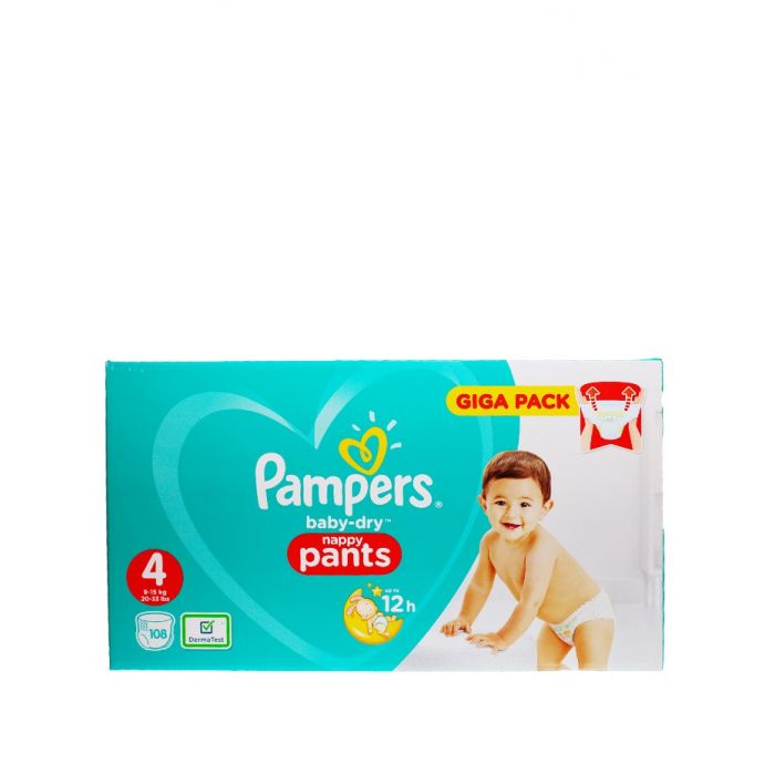 Pampers Scutece chilotel nr.4 9-15 kg 108 buc Baby-Dry