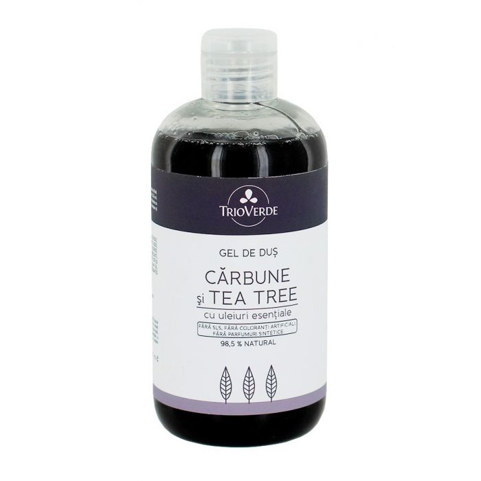 Trio Verde Gel de dus cu Carbune si Tea Tree 300 ml