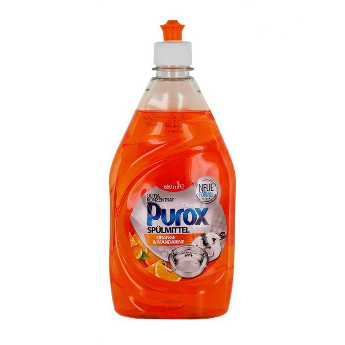 Purox Detergent pentru vase 650 ml Orange&Mandarine