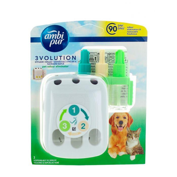 Ambi Pur Aparat odorizant camera priza+Rezerva 3Volution20 ml Pet Odour Eliminator