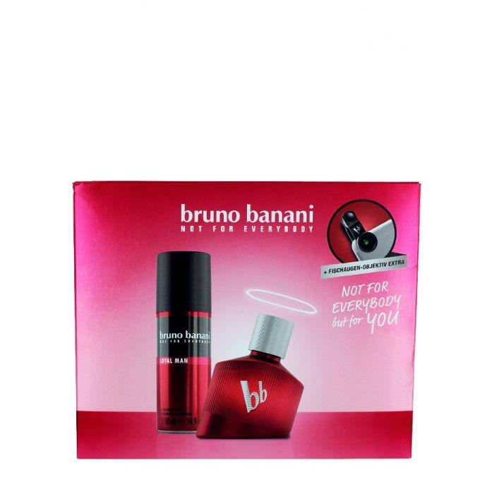 Bruno Banani Caseta barbati:Parfum+Spray deod.+Lentile pentru tel. mob. 30+50 ml