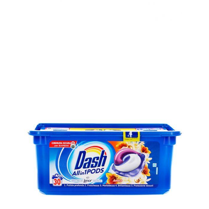 Dash Detergent Capsule 30 buc All in1 Ambra