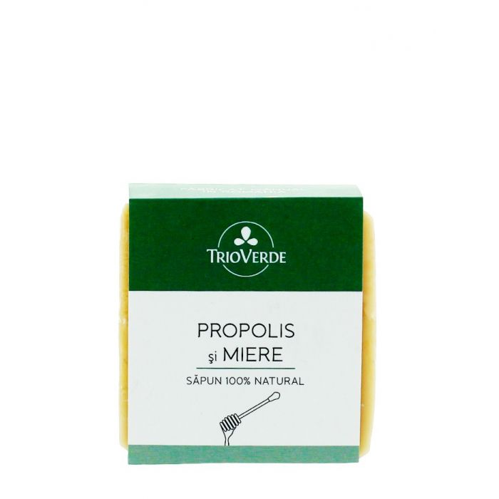 Trio Verde Sapun natural cu Propolis si Miere 110 g 100% Natural