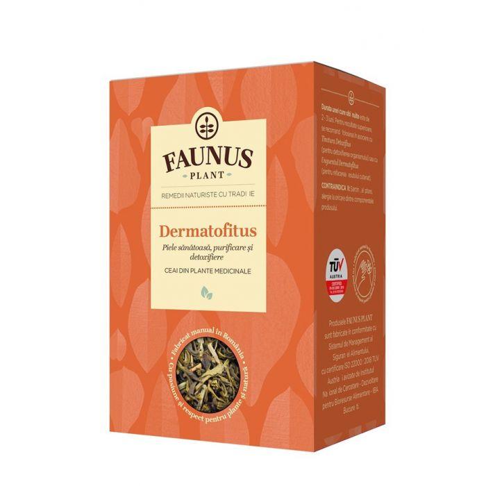 FAUNUS Ceai Dermatofitus 90 g (Piele sanatoasa)
