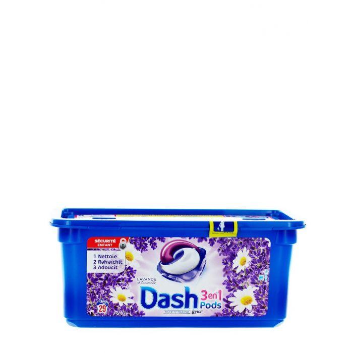 Dash Detergent Capsule 29 buc 3in1 Lavanda&Camomille