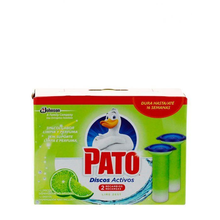 Pato(Duck) Rezerva Odorizant WC Fresh Discs 2X36 ml Lime