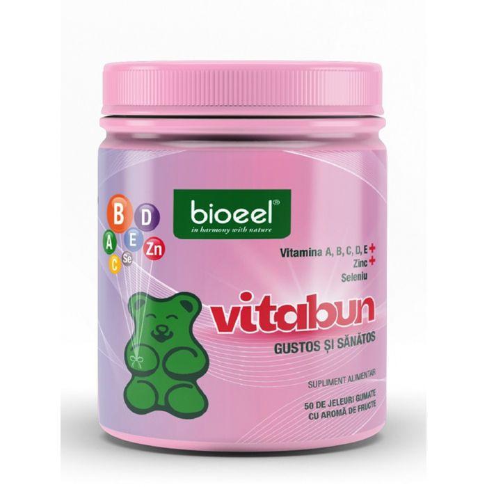Bioeel Vitabun-multivitamine, multiminerale 50 de jeleuri gumate cu aroma de fructe