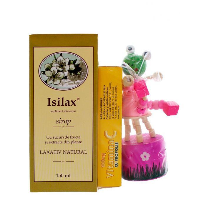 Bioeel Isilax+VIT C(100 mg propolis)+CADOU 150ml+20 comprimate mastacabile