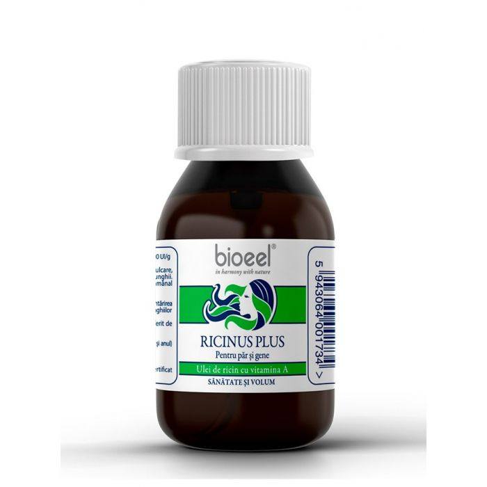 Bioeel Ricinus Plus-Pentru par si gene 80 g Sanatate si Volum