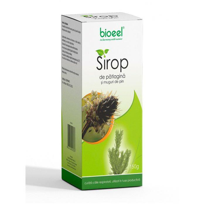 Bioeel Sirop de patlagina si muguri de pin-expectorant in tuse productiva 150 ml