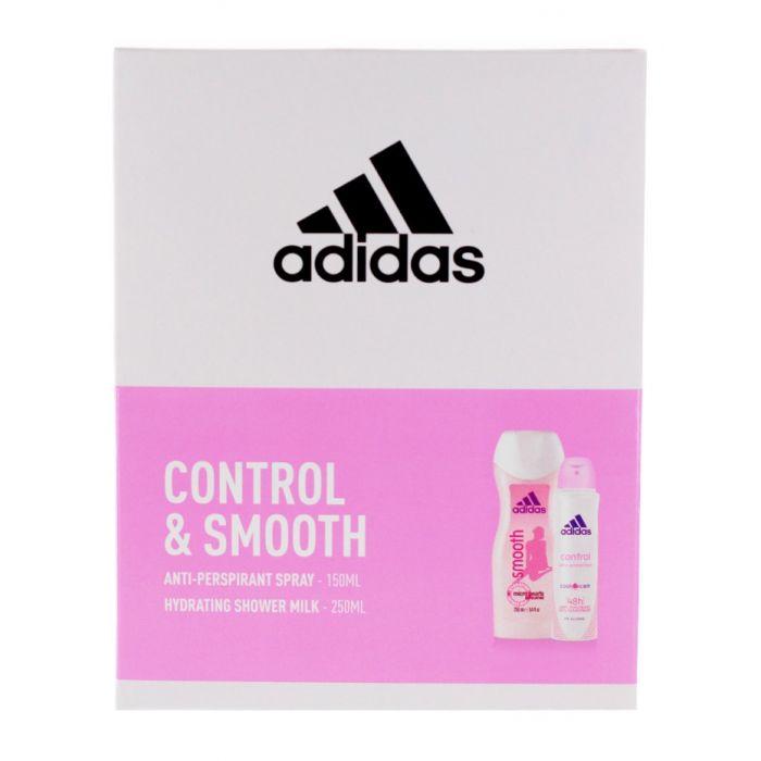 Adidas caseta femei:Spray deodorant+Gel de dus 150+250 ml Control&Smooth