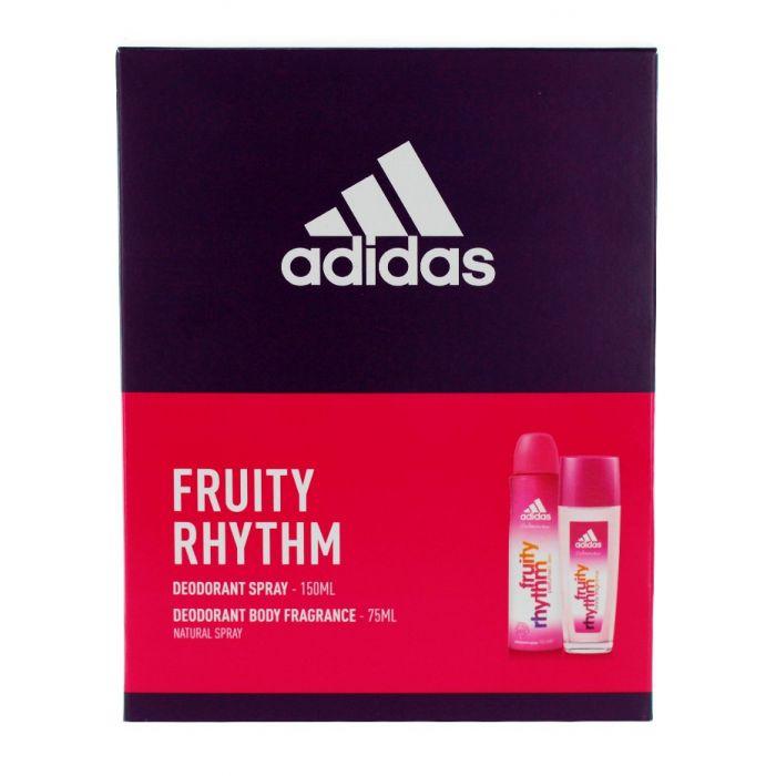Adidas caseta femei:Spray deodorant+Spray natural 150+75 ml Fruity Rhythm