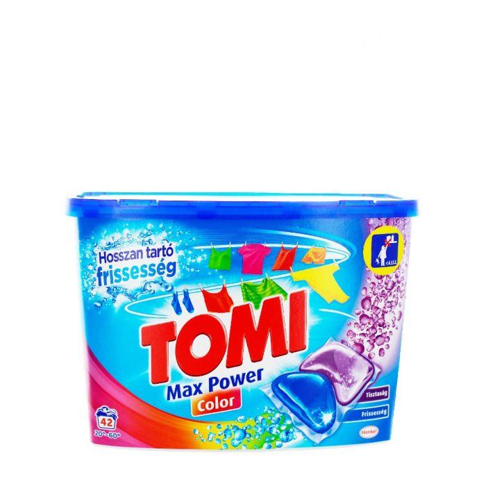 Tomi Detergent Capsule 42 buc Max Power Color