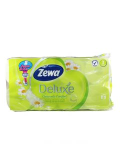 Zewa Hartie toaleta 3 straturi Deluxe 8 role Camomile