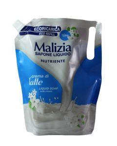 Malizia Sapun lichid rezerva 1 L Crema di latte