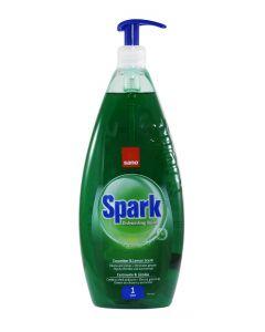 Sano Detergent pentru vase cu pompa 1 l Spark Castravete&Lamaie