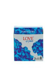 Love Plus prezervative 3 buc Sensation