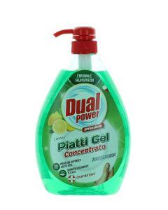Dual Power detergent pentru vase cu pompa 1000 ml Limone