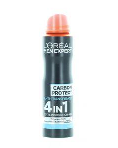 L'oreal Men Expert Spray deodorant barbati 150 ml 4in1 Carbon Protect