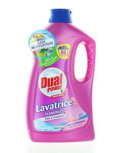 Dual Power Detergent lichid 2 L 40 spalari Flamingo