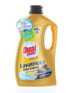 Dual Power Detergent lichid 2 L 40 spalari Perle D'Argan