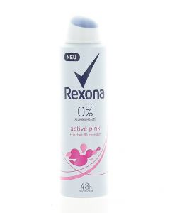 Rexona Spray deodorant femei 150 ml Active Pink 0% Aluminium