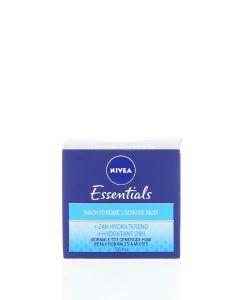 Nivea Crema de noapte 50 ml Essentials Hydratant 24H