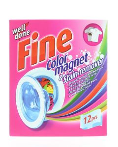 Well Done Fine Absorbant de culoare 12 buc Color Magnet&Stain Remover