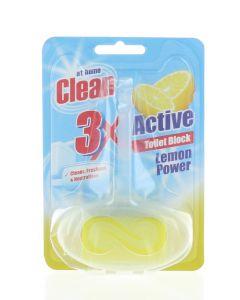 At Home Odorizant wc cu suport 40 g 3XActive Lemon Power