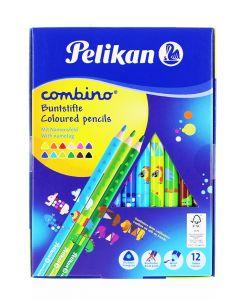 Pelikan Creioane Color Combino Lacuite 12buc/set Groase