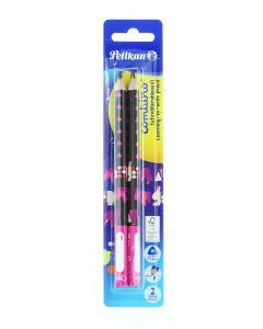 Pelikan Creion Grafit (B) 2 buc Combino Roz