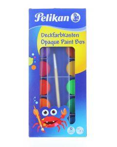 Pelikan Acuarele 12 Culori+ Alb De Zinc + Pensula