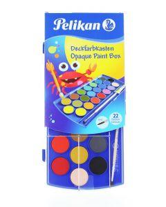 Pelikan Acuarele 22 Culori+ Alb De Zinc + Pensula