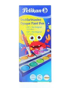 Pelikan Acuarele 12 Culori Detasabile+ Alb De Zinc