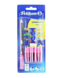 Pelikan Set Pentru Scriere (Creion Grafit, Radiera, Ascutitoare Dubla) Combino