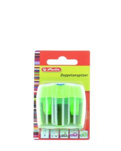 Herlitz Ascutitoare Plastic Dubla Cu Container 1 buc Diverse Culori