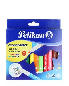 Pelikan Carioca Colorella pentru materiale textile 12buc/set C/TS12