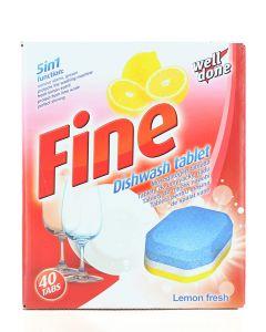 Well Done Fine Tablete pentru masina de spalat vase 40 buc Lemon Fresh