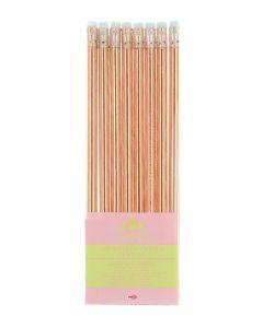 Set 8 creioane grafit cu radiera Gold