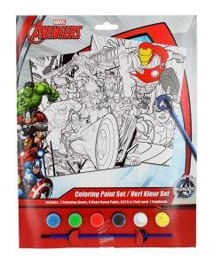 Marvel Set de colorat cu acuarele 2 foi de colorat+6 acuarele+pensula Avengers