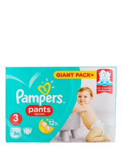 Pampers Scutece chilotel nr.3  6-11 kg 86 buc Giant Pack