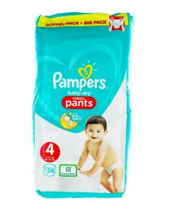Pampers scutece chilotel nr. 4 9-15 kg 58 buc Baby-Dry