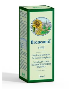 Bioeel Broncamil-calmeaza tusea, fluidifica secretiile bronsice 150 ml